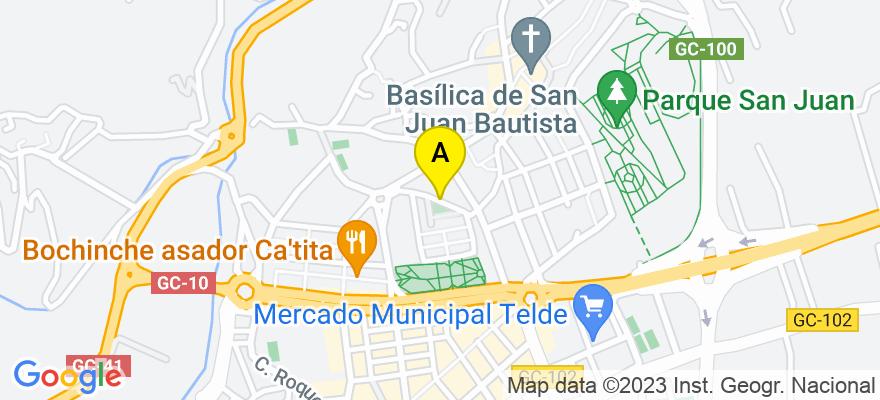 situacion en el mapa de . Direccion: C/ Ciega Nº2 - Bajo B, 35200 Telde. Las Palmas