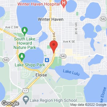 Map of Arby's at 1625 3rd St SW, Winter Haven, FL 33880