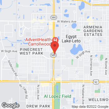 Map of Taco Bell at 3803 West Minnehaha Street, Tampa, FL 33614