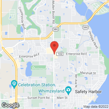 Map of Taco Bell at 2456 McMullen Booth Rd, Clearwater, FL 33759