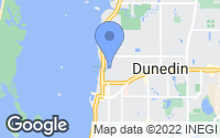 Map of Dunedin, FL