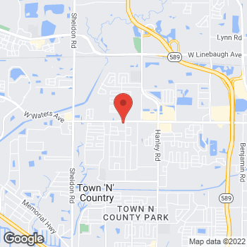 Map of Value Pawn & Jewelry at 8120 W. Waters Ave., Tampa, FL 33615