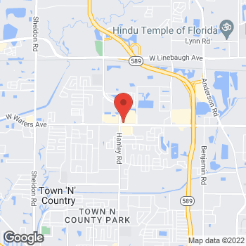 Map of Taco Bell at 7329 W Waters Ave, Tampa, FL 33634