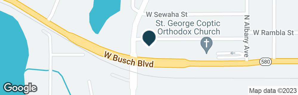 Google Map of2199 W BUSCH BLVD