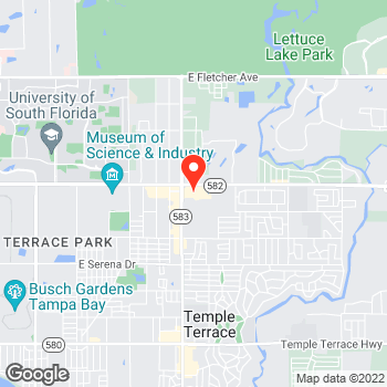 Map of Pizza en Tampa, FL – Cicis Pizza at 5771 E Fowler Ave, Tampa, FL 33617