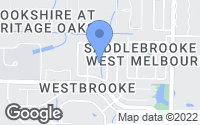 Map of West Melbourne, FL