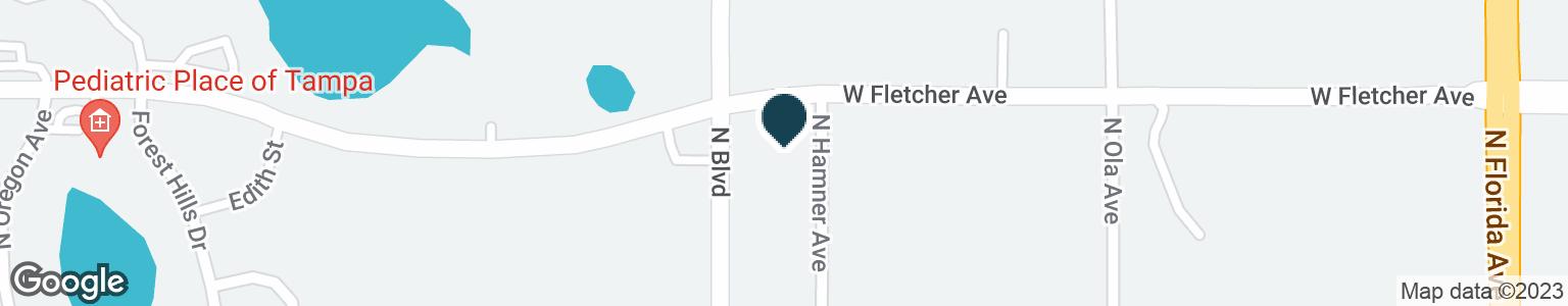 Google Map of13317 N BOULEVARD