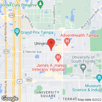 Map of Arby's at 2230 E Fletcher Ave, Tampa, FL 33612-9402
