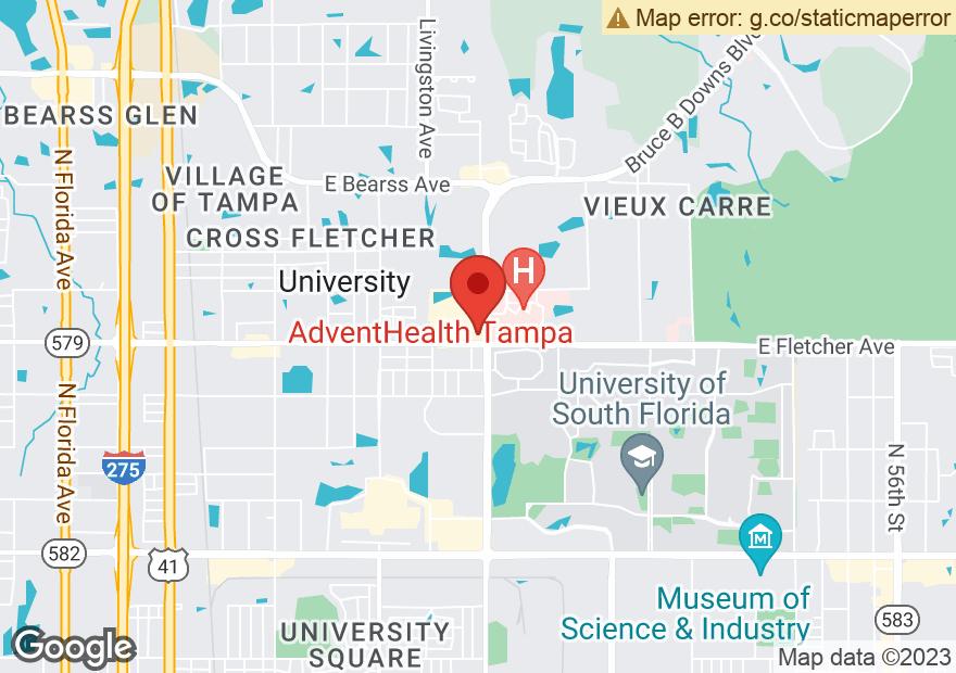 Google Map of 2916 E FLETCHER AVE