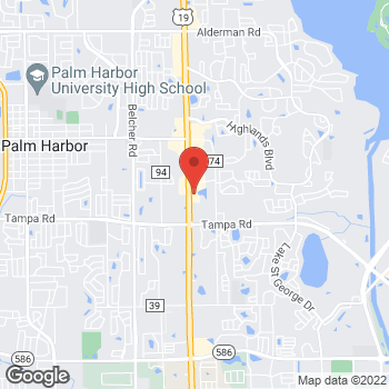 Map of Taco Bell at 32899 US Highway 19 N, Palm Harbor, FL 34684