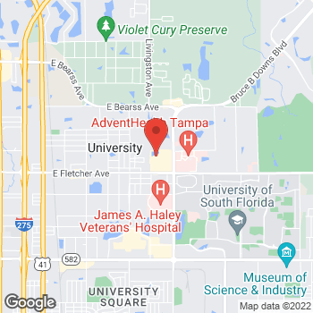 Map of location-map at 13604 University Plaza St, Tampa, FL 33613