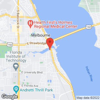 Map of Marlo Smith, PA at 2222 South Harbor City Boulevard, Melbourne, FL 32901