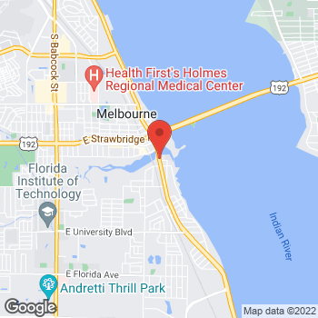 Map of Casey Langel, PA at 2222 South Harbor City Boulevard, Melbourne, FL 32901