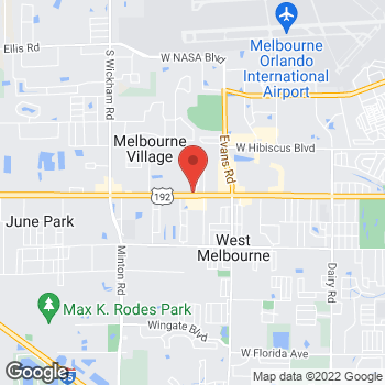 Map of Arby's at 2300 W New Haven Ave, West Melbourne, FL 32904-3708