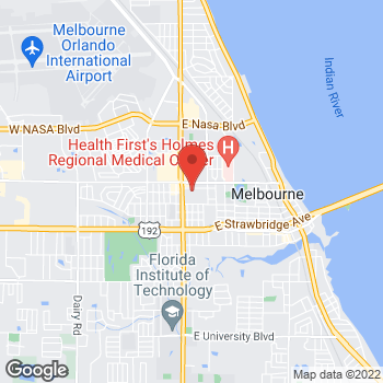 Map of Shireen Gadallah, MD at 25 East Silver Palm Avenue, Melbourne, FL 32901