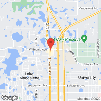 Map of Burger King at 14999 North Florida Ave, Tampa, FL 33613