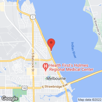 Map of Allison Wade, MD at 709 South Harbor City Boulevard, Melbourne, FL 32901