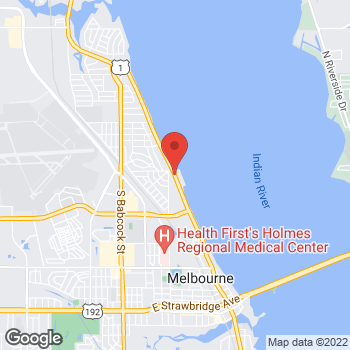 Map of Joseph Perry, PA at 709 South Harbor City Boulevard, Melbourne, FL 32901