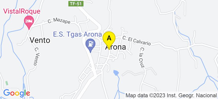 situacion en el mapa de . Direccion: Ed. Zentral Center., 38600 Arona. Santa Cruz de Tenerife