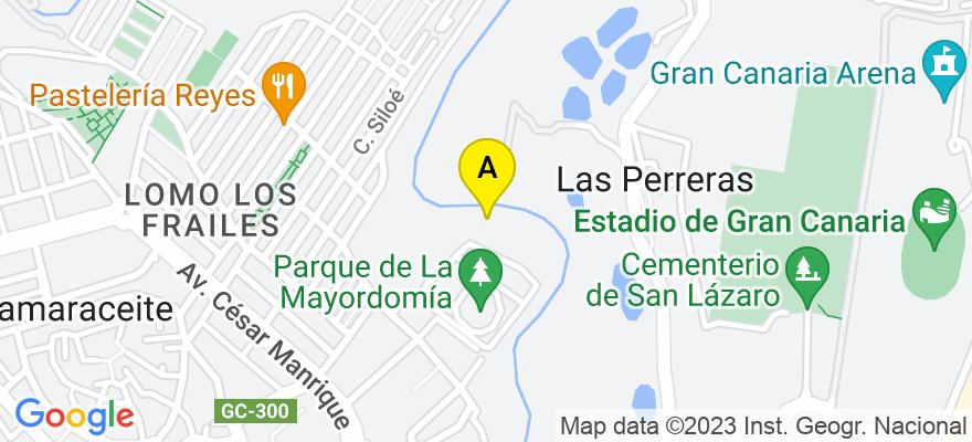 situacion en el mapa de . Direccion: c/Viera y Clavijo, 19, 2º dpto. 10, 35002 Las Palmas de Gran Canaria. Las Palmas