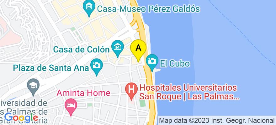 situacion en el mapa de . Direccion: Calle Mendizábal, número 37, 1º A, 35001 Las Palmas de Gran Canaria. Las Palmas