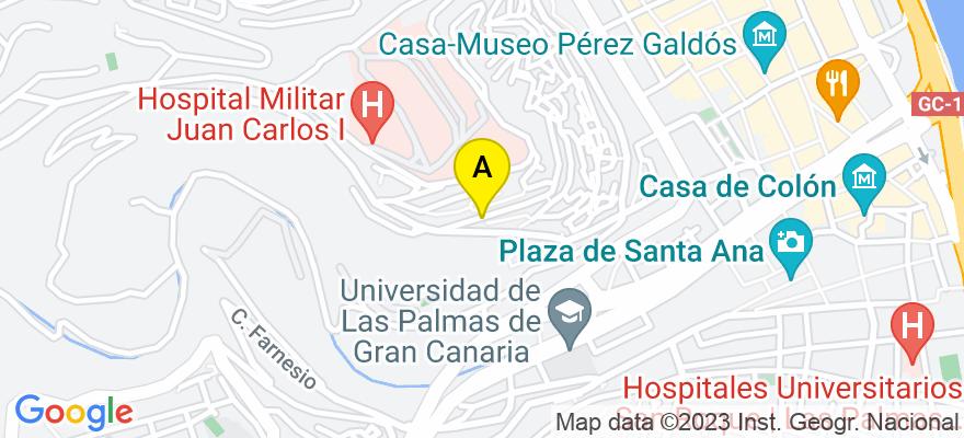 situacion en el mapa de . Direccion: Calle Guadiana, 6, 35014 Las Palmas de Gran Canaria. Las Palmas