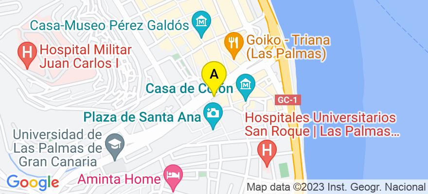 situacion en el mapa de . Direccion: Mesa de León nº 4 piso 2º, 35001 Las Palmas de Gran Canaria. Las Palmas