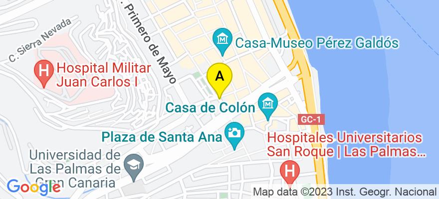 situacion en el mapa de . Direccion: c/Muro 40 2º D, 35110 Las Palmas de Gran Canaria. Las Palmas