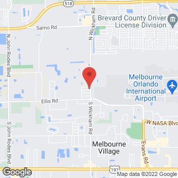 Map of Kimberly Martin, NP at 250 South Wickham Road, Melbourne, FL 32904