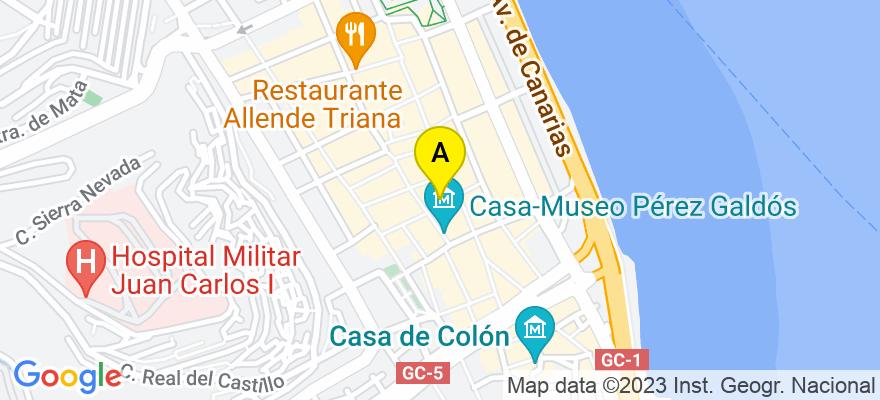 situacion en el mapa de . Direccion: calle Torres número 10, 2º piso, 35004 Las Palmas de Gran Canaria. Las Palmas