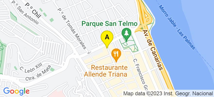 situacion en el mapa de . Direccion: Calle Viera y Clavijo, 33 - 1º, 35002 Las Palmas de Gran Canaria. Las Palmas
