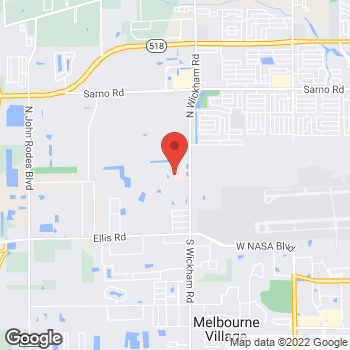 Map of Ngoc Sneeden, PA at 240 N Wickham Road, Melbourne, FL 32935