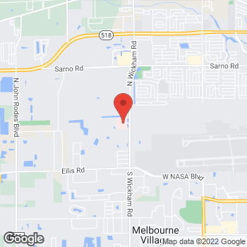 Map of Joseph Paolucci, MD at 250 Wickham Road, West Melbourne, FL 32935