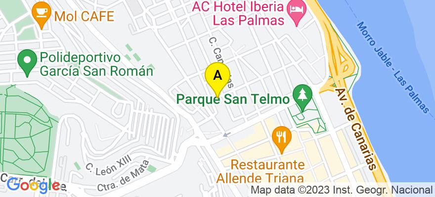 situacion en el mapa de . Direccion: C/ Cebrian 47, 35003 Las Palmas de Gran Canaria. Las Palmas