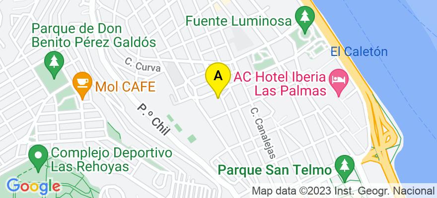 situacion en el mapa de . Direccion: C/Senador Castillo Olivares, 55 - 1, 35003 Las Palmas de Gran Canaria. Las Palmas
