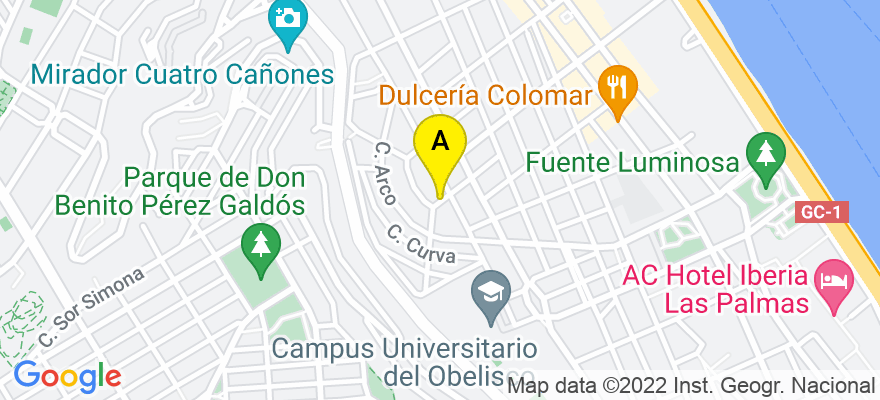 situacion en el mapa de . Direccion: Calle Obispo Encina 19, 4ª planta, 35004 Las Palmas de Gran Canaria. Las Palmas