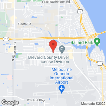 Map of Gregory Waser, MD at 1801 Sarno Road, Melbourne, FL 32935