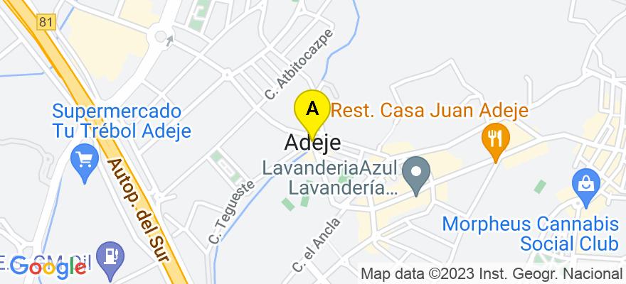 situacion en el mapa de . Direccion: Av Europa 25. San Eugenio, 38660 Adeje. Santa Cruz de Tenerife