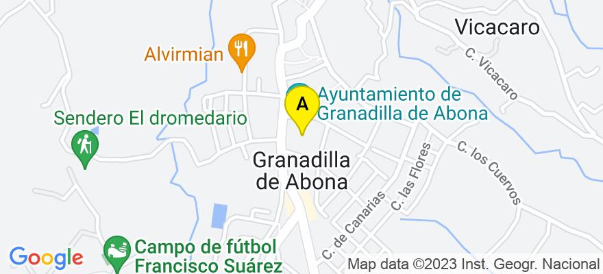 situacion en el mapa de . Direccion: C./ Teobaldo power 7, 2º Derecha. El Médano, 38612 Granadilla de Abona. Santa Cruz de Tenerife