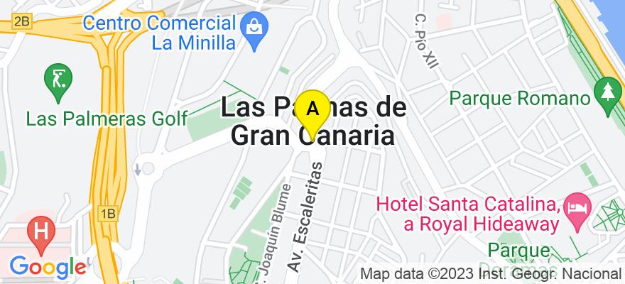 situacion en el mapa de . Direccion: C/ Bernardino Correa Viera nº 5, Local 9, 35002 Las Palmas de Gran Canaria. Las Palmas