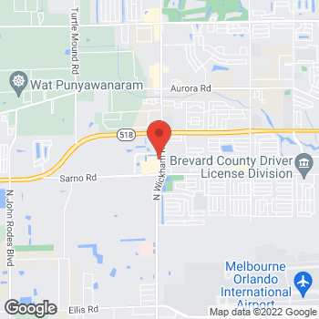 Map of Hair Cuttery at 1070 N Wickham Rd, Melbourne, FL 32935