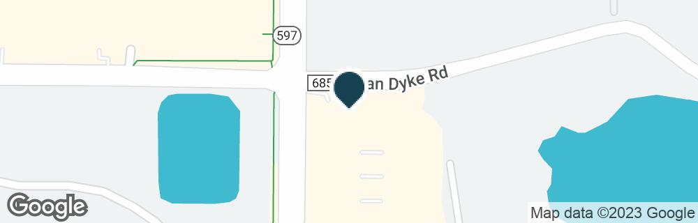 Google Map of3890 VAN DYKE RD
