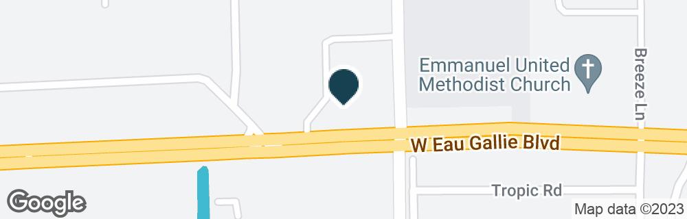 Google Map of1350 N WICKHAM RD