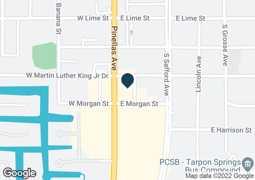 Google Map of605 S PINELLAS AVE