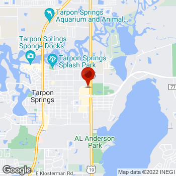 Map of Staples® Print & Marketing Services at 41334 North Hwy 19, Tarpon Springs, FL 34689
