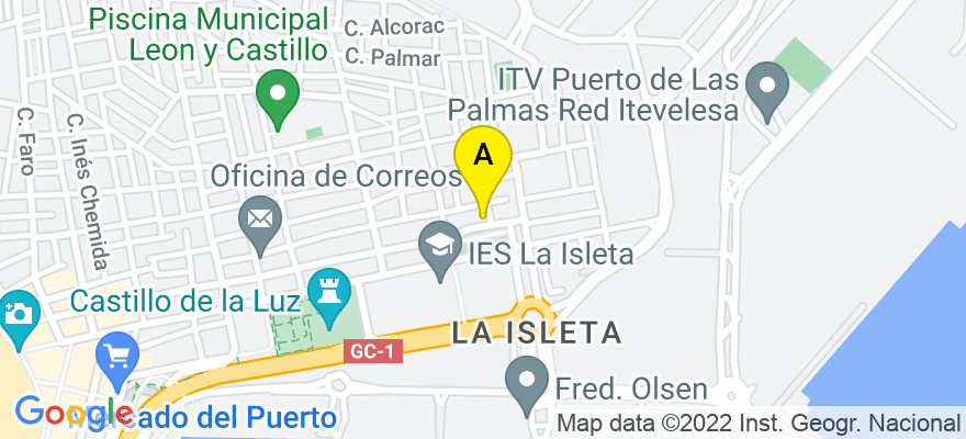 situacion en el mapa de . Direccion: Calle La Naval 209 piso 6, 35010 Las Palmas de Gran Canaria. Las Palmas