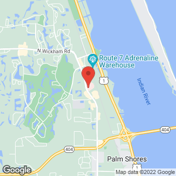 Map of Anita Saluja, MD at 6559 N Wickham Road, Melbourne, FL 32940