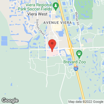 Map of Darlene Go Popat, MD at 8745 N. Wickham Road, Melbourne, FL 32940