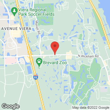 Map of Frances Dilley, MD at 7970 N Wickham Road, Melbourne, FL 32940