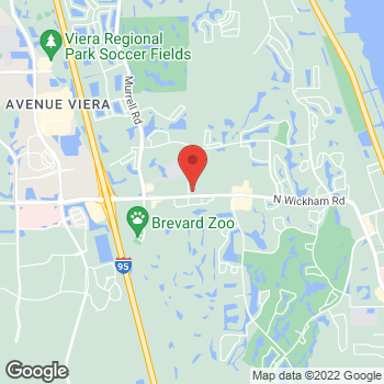 Map of Javier Soto, MD at 7970 N. Wickham Road, Melbourne, FL 32940